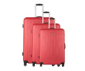 3 VALISES CHARIOT I ROUGE - H50, H60 & H70
