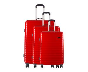 3 VALISES CHARIOT ROUGE - H50, H60 & H70