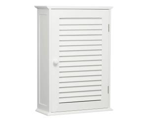 Armoire de salle de bains MDF, Blanc - 39*57