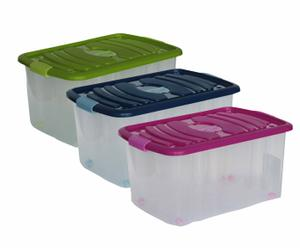 3 Boites de rangement antimites, multicolore - 45L