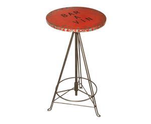 Table haute Métal, Rouge - H110