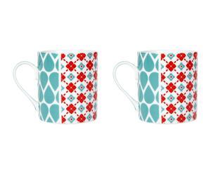2 Mini mugs PATCHWORK, porcelaine – H8