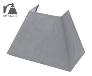 Abat-jour rectangle ii tissu, gris – L25