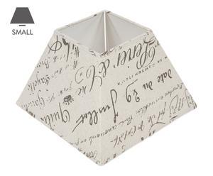 Abat-jour carré tissu, beige – L19