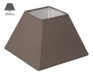 Abat-jour carré tissu, marron – L20