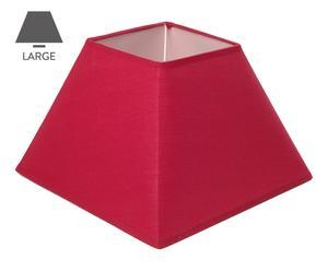 Abat-jour carré tissu, rouge – L26