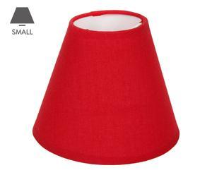 Abat-jour conique tissu, rouge - H10