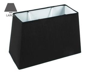 Abat-jour rectangle tissu, noir - H20