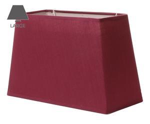 Abat-jour rectangle tissu, violet - H20