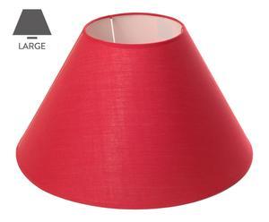 Abat-jour tissu, rouge - H25