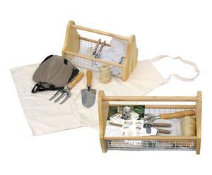 Panier et kit de jardinage Métal et osier, Multicolore - H41