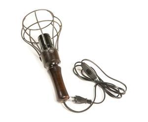 Lampe baladeuse bois et métal, marron - H29