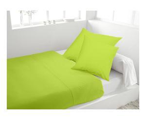 Drap plat 2 places et 2 taies d'oreiller Coton, Vert - 300*240