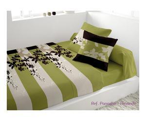 Parure de lit 2 places Percale de coton PANACHE, Vert - 300*240