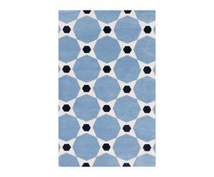 Tapis cas, bleu et blanc - 243*335