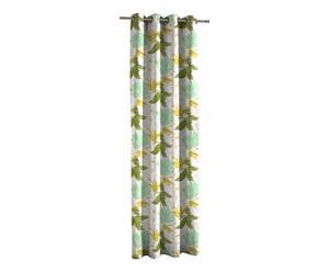 Rideau BYZANCE Coton, Vert et jaune - 135*270