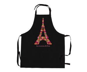 Tablier MACARONS DE PARIS Coton, Noir - L90