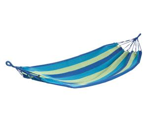 Hamac I  coton et bois, vert et bleu – L200