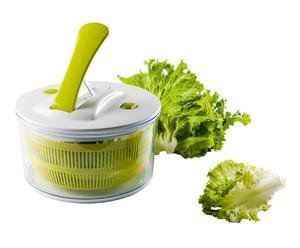 Essoreuse à salade à levier, Vert et blanc - L25