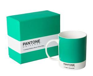 Mug Porcelaine, Vert et blanc – Ø8