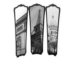 Paravent PARIS verre acrylique, noir et blanc - 153*151
