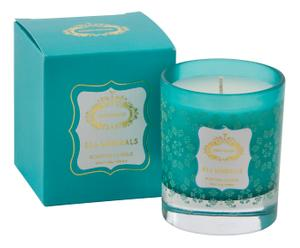 Bougie AROMA verre, turquoise - 10H