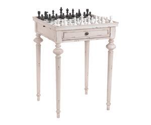 Table d\'échecs bois de mindi, beige - H72