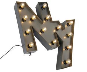 Lampe murale métal, argenté - H71
