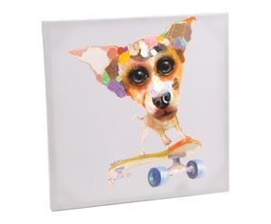 Toile peinture acrylique, multicolore - 60*60
