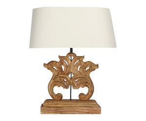 Lampe bois de chêne, ecru et naturel - H53