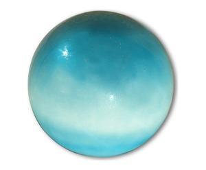 Lampe boule verre soufflé peint, bleu ciel - Ø40