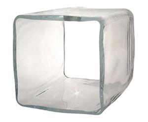 Abat-jour carré verre soufflé, transparent - 15*15