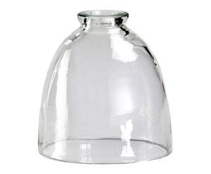 Abat-jour verre soufflé peint, transparent - H17