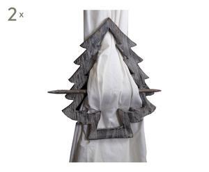2 Embrasses de rideau bois, gris - H27