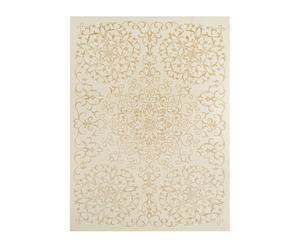 Tapis DALIANA laine et soie, ivoire et doré - 170*240