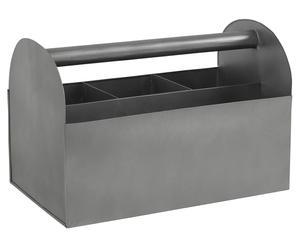 Porte-couverts acier galvanisé, zinc - 31*19
