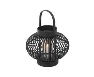 Lampion rotin, noir - Ø14