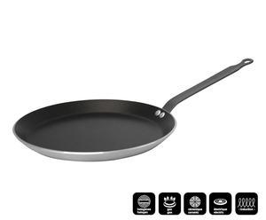 Crêpière CHOC RESTO INDUCTION aluminium, noir et argenté - Ø26