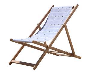 Transat MOUETTES bois de hêtre et coton, bleu et blanc - L135