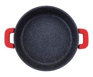 Poêle à paella RED STONE marbre, noir - Ø32