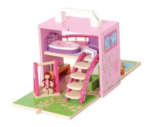 Maison de poupée TVÍSKER, bois - rose