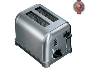 Toaster mécanique acier brossé inoxydable, argenté - L27