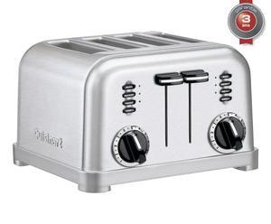 Toaster mécanique acier brossé inoxydable, gris alu - L29