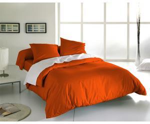 Parure de lit NOLA coton, orange - 140*200