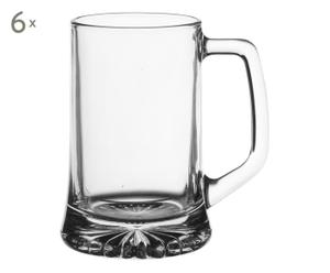 6 Chopes verre, transparent - 28cL