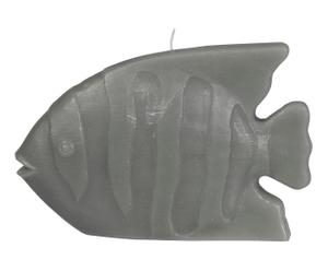 Bougie FISH paraffine, gris - L18