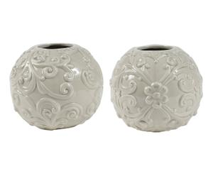 2 Vases boule, taupe - Ø13