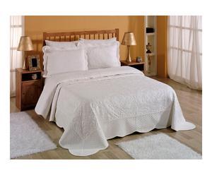 Parure de dessus de lit coton, blanc - 2 personnes