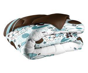 Couette COR CAROLI polyester, blanc et chocolat - 140*200