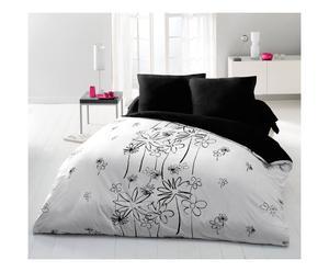 Parure de drap GIAUSAR polyester, noir et blanc - 240*300